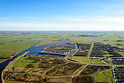 Nederland, Friesland, Leeuwarden, 28-02-2016; stadsdeel Zuiderburen, de wijk Hoek. Vinexlocatie.<br /> The newly constructed residential area Zuiderburen (Southern neighbours) in Leeuwarden, Friesland, North Netherlands.<br /> <br /> luchtfoto (toeslag op standard tarieven);<br /> aerial photo (additional fee required);<br /> copyright foto/photo Siebe Swart