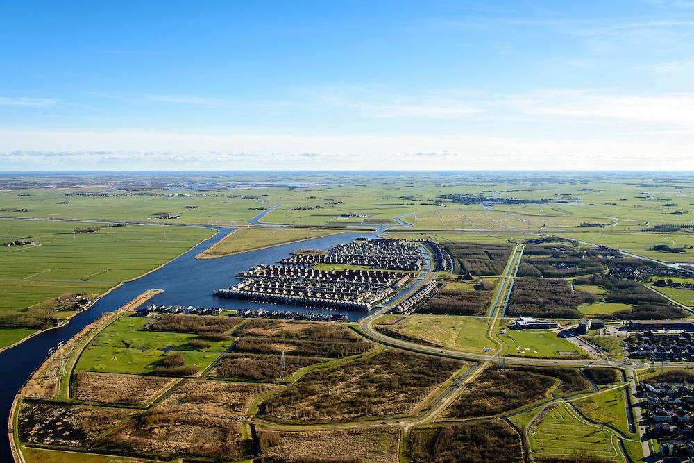 Nederland, Friesland, Leeuwarden, 28-02-2016; stadsdeel Zuiderburen, de wijk Hoek. Vinexlocatie.<br /> The newly constructed residential area Zuiderburen (Southern neighbours) in Leeuwarden, Friesland, North Netherlands.<br /> <br /> luchtfoto (toeslag op standard tarieven);<br /> aerial photo (additional fee required);<br /> copyright foto/photo Siebe Swart