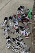 Maidenhead, United kingdom. Competitors shoes/trainers, Maidenhead Junior Regatta. RiverThames Maidenhead.  Sunday  15/05/2011  [Mandatory Credit; Karon Phillips/Intersport-images]