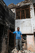 9 August 2018 &ndash; Mosul &ndash; Iraq &ndash; Father of four Youssef Shwbail, 59, stands inside his damaged home in the Myasa neighbourhood of Mosul&rsquo;s Old City. Shwbail&rsquo;s home is one of the houses that will be rehabilitated with the support of UNDP&rsquo;s Funding Facility for Stabilization (FFS). <br /> <br /> &copy; UNDP Iraq / Claire Thomas