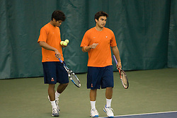 The #1 nationally ranked men's doubles team of Somdev Devvarman and Trent Huey defeated #33 ranked Alex Cojanu/Keziel Juneau 8-6.  The #1 ranked Virginia Cavaliers men's tennis team faced the #43 ranked William and Mary Tribeat the Boyd Tinsley Courts at the Boars Head Inn in Charlottesville, VA on January 20, 2008.