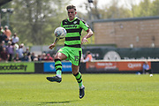 Forest Green Rovers Charlie Cooper(15) controls the ball during the EFL Sky Bet League 2 match between Forest Green Rovers and Grimsby Town FC at the New Lawn, Forest Green, United Kingdom on 5 May 2018. Picture by Shane Healey.
