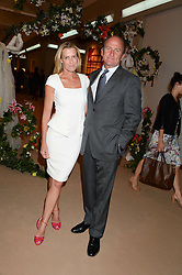 INDIA HICKS and DAVID FLINT WOOD at the Masterpiece Midsummer Party in aid of Marie Curie Cancer Care held at The Royal Hospital Chelsea, London on 2nd July 2013.