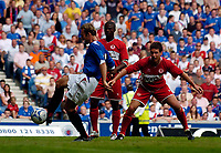 Photo: Jed Wee.<br />Glasgow Rangers v Middlesbrough. Pre Season Friendly. 22/07/2006.<br /><br />Rangers' Thomas Buffel scores on the stroke of half time.