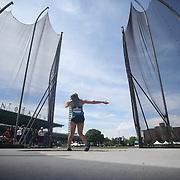 Sandra Perkovic, Croatia, winning the Women's Discus throw event during the Diamond League Adidas Grand Prix at Icahn Stadium, Randall's Island, Manhattan, New York, USA. 13th June 2015. Photo Tim Clayton