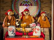 24 FEBRUARY 2015 - PHNOM PENH, CAMBODIA: Inside Dorngkeur Shrine in Phnom Penh. The figures are the protectors of Phnom Penh.    PHOTO BY JACK KURTZ