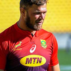 Springboks captain Duane Vermeulen during the Rugby Championship South Africa Springboks captain's run training session at Westpac Stadium in Wellington, New Zealand on Friday, 26 July 2019. Photo: Dave Lintott / lintottphoto.co.nz