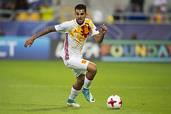 June 20, 2017 - Gdynia, Poland - Dani Ceballos of Spain in action during the UEFA European Under-21 Championship 2017  Group B match between Portugal and Spain at Gdynia Stadium in Gdynia, Poland on June 20, 2017  (Credit Image: © Andrew Surma/NurPhoto via ZUMA Press)