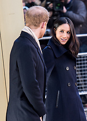 Prince Harry and Meghan Markle make their first official visit as an engaged couple as they attend Terrence Higgins Trust World AIDS Day charity fair at Nottingham Contemporary. 01 Dec 2017 Pictured: Prince Harry and Meghan Markle. Photo credit: EXCALIBER / MEGA TheMegaAgency.com +1 888 505 6342