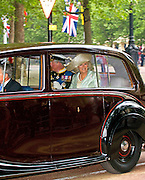 29.APRIL.2011. LONDON<br /> <br /> HRH PRINCE CHARLES AND THE DUCHESS OF CORNWALL TRAVEL BY ROYAL CAR EN-ROUTE TO THE ROYAL WEDDING AT WESTMINSTER ABBEY, IN LONDON.<br /> <br /> BYLINE: EDBIMAGEARCHIVE.COM<br /> <br /> *THIS IMAGE IS STRICTLY FOR UK NEWSPAPERS AND MAGAZINES ONLY*<br /> *FOR WORLD WIDE SALES AND WEB USE PLEASE CONTACT EDBIMAGEARCHIVE - 0208 954 5968*