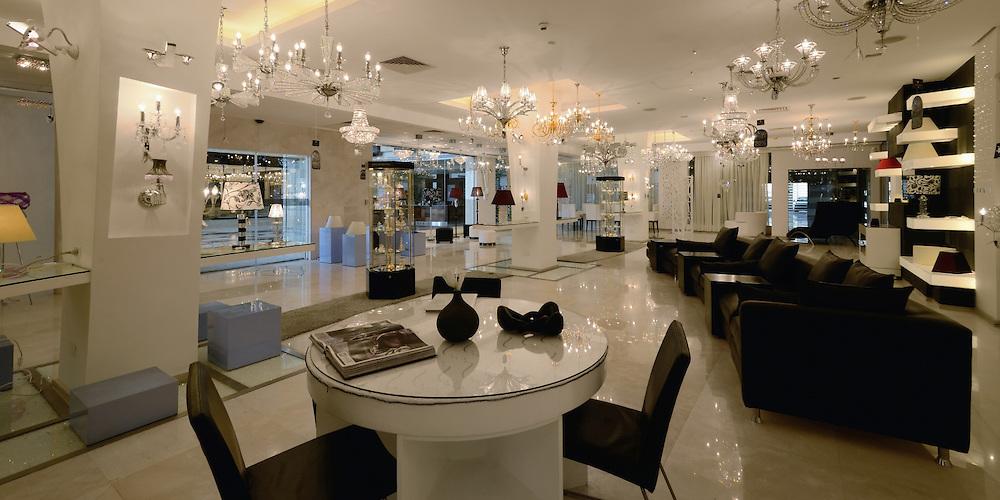 Asfour Crystal Showrooms Interior at Baron Center | For Mona Hussein Design House