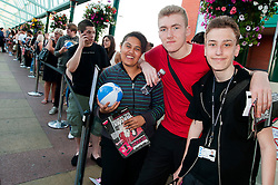 Meadowhall Student Lock In First in Isabella Costello, Liam Russ and Richard Allen..29th September2011. Image © Paul David Drabble