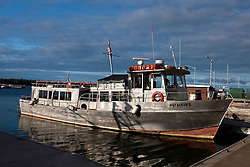 The Voyageur II ship docked at Rock Harbor, Isle Royale National Park, Michigan, United States of America