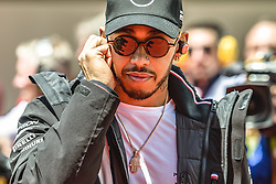 May 13, 2018 - Barcelona, Catalonia, Spain - LEWIS HAMILTON (GBR), Mercedes, is presented to the crowd prior the Spanish GP at Circuit de Barcelona - Catalunya (Credit Image: © Matthias Oesterle via ZUMA Wire)