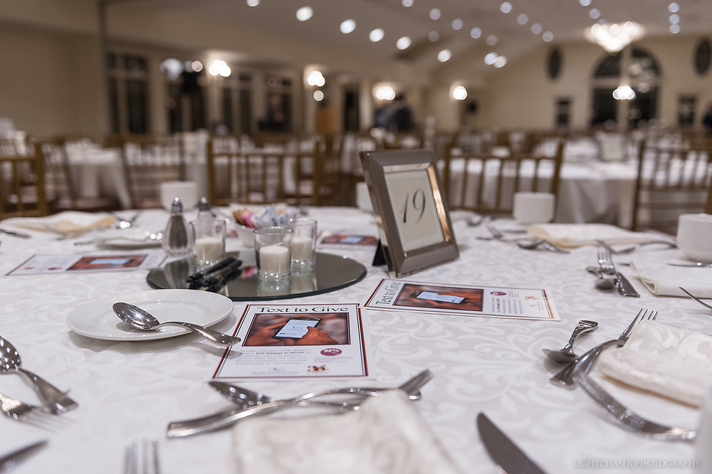 20181119, Monday, November 19, 2018, Quincy, MA, USA &ndash;  Annual Hungry Men Dinner  to benefit My Brother's Keeper of Easton MA held at Granite Links Golf Club in Quincy MA on Monday evening November 19, 2018. The 8th annual fundraiser is an male-centered evening that begins with a social hour continues with a served meal, and ends with a spirited live fundraising auction. <br /> <br /> ( 2018 &copy; lightchaser photography )
