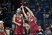 Valerio Mazzola, Bruno Cerella<br /> Umana Reyer Venezia - Happycasa Brindisi<br /> Finale<br /> LBA Legabasket Serie A Final 8 Coppa Italia 2019-2020<br /> Pesaro, 16/02/2020<br /> Foto L.Canu / Ciamillo-Castoria