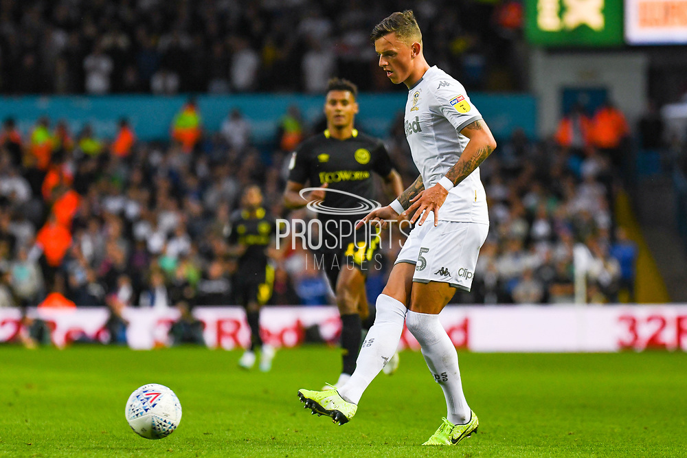 Leeds United defender Ben White (5) passes the ball during the EFL Sky Bet Championship match between Leeds United and Brentford at Elland Road, Leeds, England on 21 August 2019.