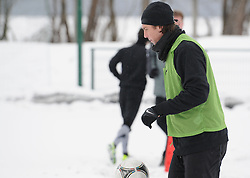 Marko Simic of ND Mura 05 exercise during the Training on February 22, 2013 in Fazanerija, Murska Sobota, Slovenia. (Photo By Ales Cipot / Sportida.com)