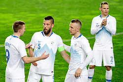 Robert, Beric, Bostjan Cesar, Jasmin Kurtic and Martin Milec of Slovenia during friendly football match between National teams of Slovenia and Belarus, on March 27, 2018 in SRC Stozice, Ljubljana, Slovenia. Photo by Matic Klansek Velej / Sportida