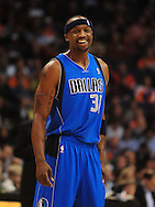 Feb. 17, 2011; Phoenix, AZ, USA; Dallas Mavericks guard Jason Terry (31) reacts on the court  against the Phoenix Suns at the US Airways Center.  The Mavericks defeated the Suns 112-106. Mandatory Credit: Jennifer Stewart-US PRESSWIRE