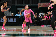 February 11, 2018: AJ Alix #4 of Florida State in action during the NCAA basketball game between the Miami Hurricanes and the Florida State Seminoles in Coral Gables, Florida. The Seminoles defeated the 'Canes 91-71.