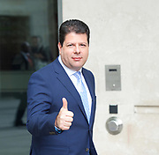 Fabian Picardo, Chief Minster of Gibraltar<br /> BBC, Broadcasting House, London, Great Britain <br /> 2nd April 2017 <br /> <br /> Fabian Picardo, Chief Minster of Gibraltar<br /> <br /> <br /> <br /> Photograph by Elliott Franks <br /> Image licensed to Elliott Franks Photography Services