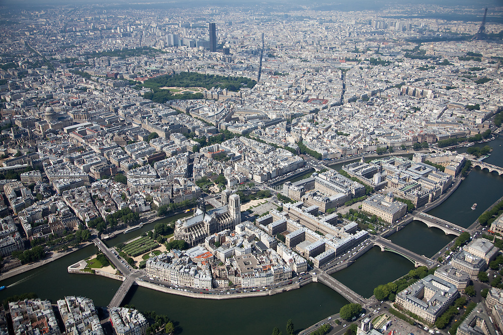 The Île de la Cité is one of two remaining natural islands in the Seine within the city of Paris, and where the Nore-Dame cathedral is located.