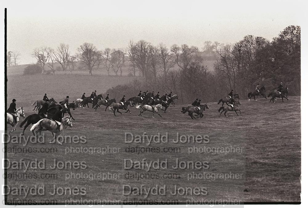 Hunting, Quorn, 11 November 1983,