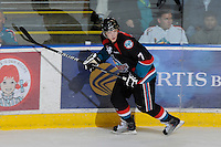 KELOWNA, CANADA, OCTOBER 5: Damon Severson #7 of the Kelowna Rockets skates on the ice against the Tri City Americans on October 5, 2011 at Prospera Place in Kelowna, British Columbia, Canada (Photo by Marissa Baecker/shootthebreeze.ca) *** Local Caption *** Damon Severson;