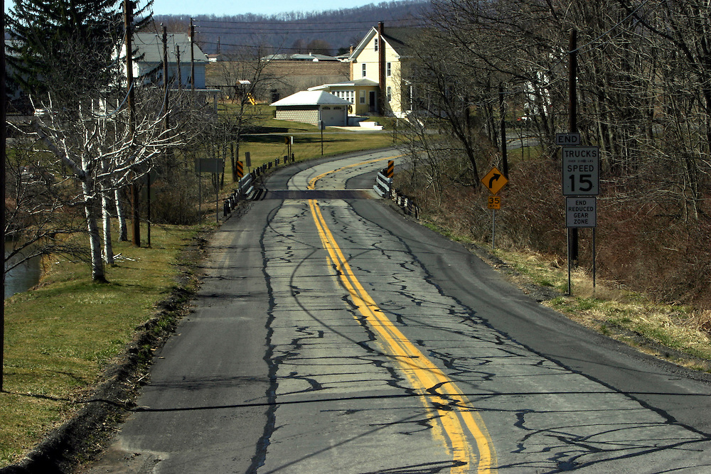 Pennsylvania: State Rt. 125 from Shamokin to Pine Grove....17.03.06