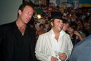 Petroc Sesti; Lars von Bennigsen , Quintessentially  Summer arts party with Perier Jouet.  An evening of performance art. Phillips de Pury Gallery. London. 9 July 2008. *** Local Caption *** -DO NOT ARCHIVE-© Copyright Photograph by Dafydd Jones. 248 Clapham Rd. London SW9 0PZ. Tel 0207 820 0771. www.dafjones.com.