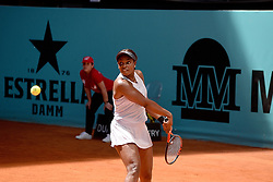 May 5, 2019 - Madrid, Spain - Sloane Stephens(USA) in her match against Polona Hercog (SLO) during day two of the Mutua Madrid Open at La Caja Magica in Madrid on 5th May, 2019. (Credit Image: © Juan Carlos Lucas/NurPhoto via ZUMA Press)