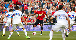 Manchester United's Antonio Valencia is surrounded by Sampdoria defenders - Mandatory by-line: Matt McNulty/JMP - 02/08/2017 - FOOTBALL - Aviva Stadium - Dublin,  - Manchester United v Sampdoria - Pre-Season friendly