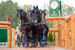 Georgina Hunt, (GBR), Chardon, Guus, Rambo, Waterreus - Driving Marathon - Alltech FEI World Equestrian Games™ 2014 - Normandy, France.<br /> © Hippo Foto Team - Jon Stroud<br /> 06/09/2014