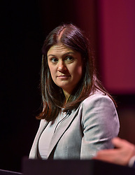 Pictured: Lisa Nandy on stage.<br /> <br /> Candidates in the race to be the new Labour leader took part in a hustings in Glasgow on Saturday.<br /> <br /> © Dave Johnston / EEm