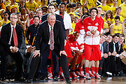 ANN ARBOR, MI - FEBRUARY 5: Head coach Thad Matta of the Ohio State Buckeyes watches from the sideline against the Michigan Wolverines during the game at Crisler Center in Ann Arbor, Michigan on February 5. Michigan won 76-74. (Photo by Joe Robbins)