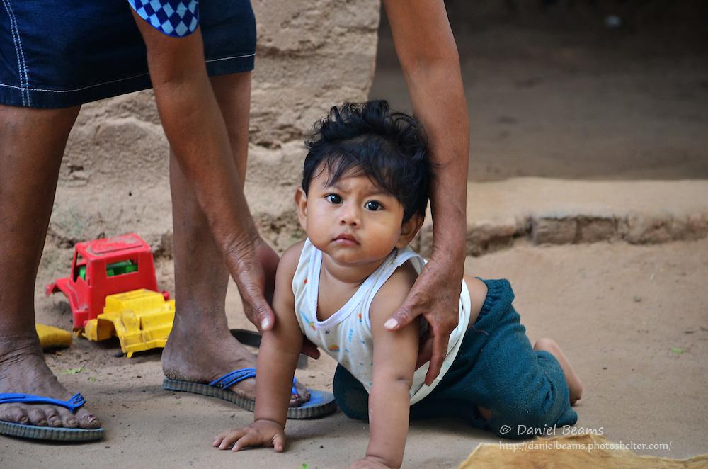 Guarani baby in Yapiroa, Izozog, Santa Cruz, Bolivia