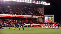 The Arsenal and Ipswich Town teams line up to show their respect to ex-Arsenal player and current Coach George Armstrong. Arsenal 1:2 Ipswich Town, Worthington Cup, Third Round, 1/11/2000. Credit Colorsport / Stuart MacFarlane.