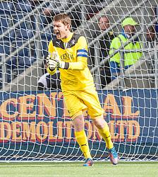 Falkirk's keeper Michael McGovern.<br /> Falkirk 1 v 2 Hamilton, Scottish Championship 31/8/2013.<br /> &copy;Michael Schofield.