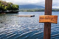 View of Lake Nicaragua from the dock at Jicaro Island Ecolodge, Granada, Nicaragua