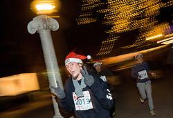 10. Dobrodelni tek in pohod Božičkov v Tivoliju, on December 20, 2013 in Ljubljana, Slovenia.  Photo by Vid Ponikvar / Sportida