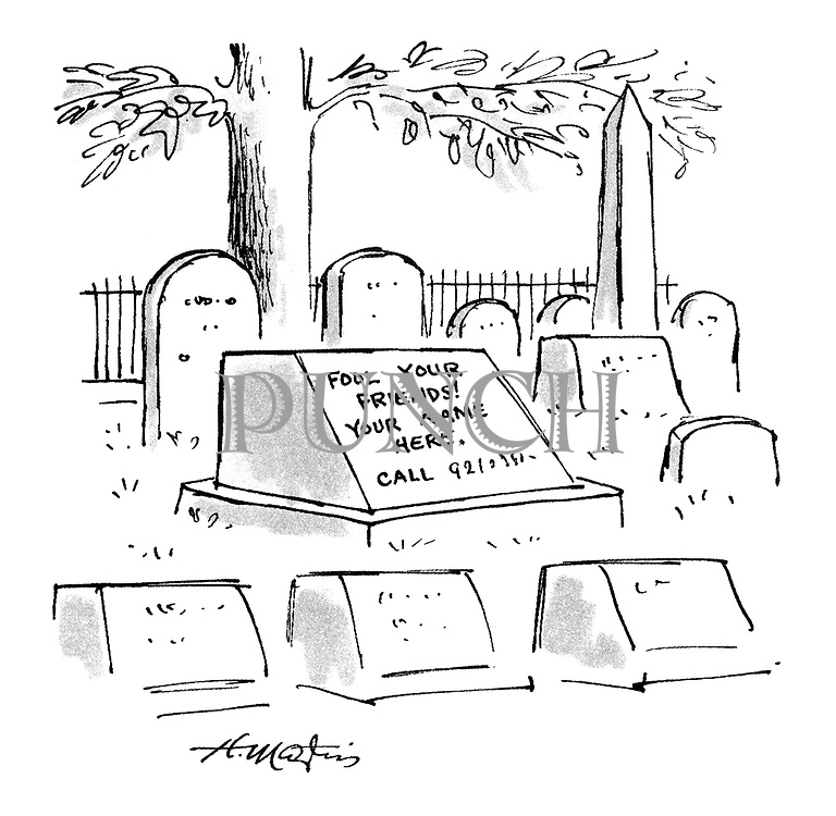 "(A grave stone with the sign ""Fool your friends! Your name here"" written on it)"