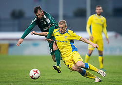 Denis Mojstrovic of Krka vs Zeni Husmani of NK Domzale during football match between NK Domzale and NK Krka in Semifinal of Slovenian Football Cup 2016/17, on April 4, 2017 in Sports park Domzale, Slovenia. Photo by Vid Ponikvar / Sportida