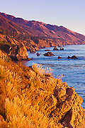 Evening light on the Big Sur coast, Julia Pfeiffer Burns State Park, California