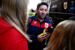 Bristol City head coach Lee Johnson receives some chocolates from a young fan - Mandatory by-line: Phil Chaplin/JMP - FOOTBALL - Carrow Road - Norwich, England - Norwich City v Bristol City - Sky Bet Championship