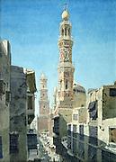 Suq al-Nahhasin, Cairo', 1866. Watercolour. Richard Phene Spiers (1838-1916) English Architect. Egypt Architecture Building