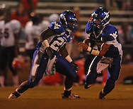 Water Valley's E.J. Bounds (5) runs vs. Coffeeville in Water Valley, Miss. on Friday, August 26, 2011.