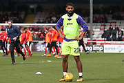 Exeter City defender Luke Croll (23) warming up prior to the EFL Sky Bet League 2 match between Lincoln City and Exeter City at Sincil Bank, Lincoln, United Kingdom on 30 March 2018. Picture by Mick Atkins.