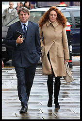 Charlie and Rebekah Brooks at the preliminary hearing of the phone hacking trial at the Old Bailey in London ,Wednesday, 26th September 2012. Photo by: Stephen Lock / i-Images