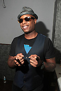 August 20, 2012-New York, NY: Recording Artist Talib Kweli of Idle Warship backstage at the Idle Warship Concert featuring Talib Kweli & Res Produced by Jill Newman Productions and held at the Highline Ballroom on August 19, 2012 in New York City. A collaboration between longtime friends, hip-hop luminary Talib Kweli and critically acclaimed soulful singer and songwriter Res, Idle Warship is a perfect example of how a whole can become greater than the sum of its parts. Idle Warship was born out of sheer experimentation in the studio and have become one of the premiere live bands in the U.S. (Terrence Jennings)